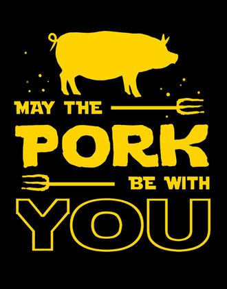 Tin Sign - May the Pork be With You