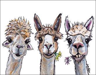 Tin Sign - Lee Keller - Alpaca Trio
