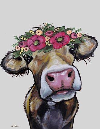 Tin Sign - Lee Keller - Hazel the Cow