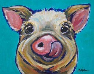 Tin Sign - Lee Keller - Caesar the Pig