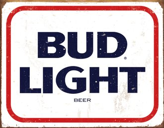 Tin Sign - Bud Light Beere (Weathered)