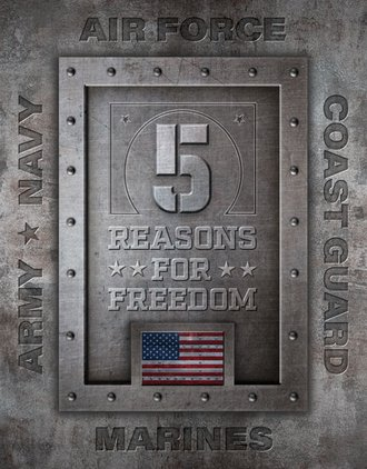 Tin Sign - 5 Reasons for Freedom