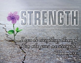 Tin Sign - Gives Me Strength - Philippians 4:13