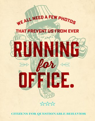 Tin Sign - A Few Photos Prevent Us...Running For Office