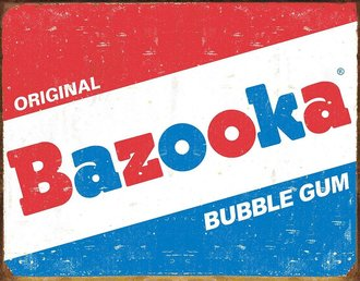 Tin Sign - Bazooka Original Bubble Gum
