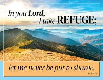 Tin Sign - In You Lord, I Take Refuge…