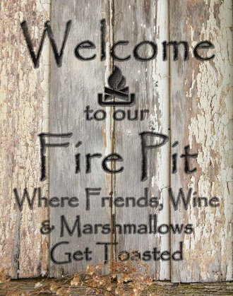 Tin Sign - Welcome to Our Fire Pit
