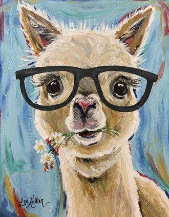 Tin Sign - Alpaca Glasses