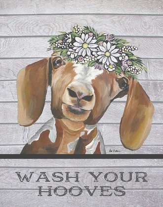 Tin Sign - Wash Your Hooves