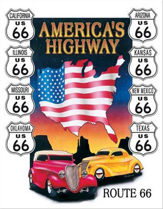 Tin Sign - America's Highway
