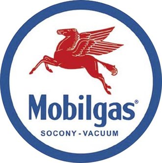 Tin Sign - Mobilgas Pegasas (Round)