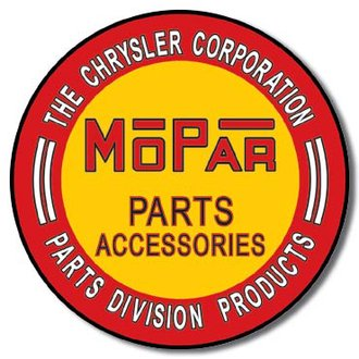 Tin Sign - Mopar (Round)