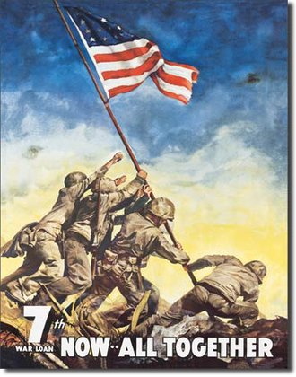 Tin Sign - War Bonds - Iwojima