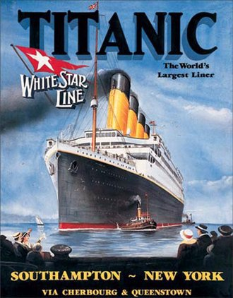 Tin Sign - Titanic - White Star Line