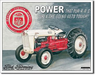 Tin Sign - Ford Farming - Golden Jubilee Model