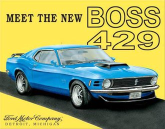 Tin Sign - Ford Mustang Boss 429