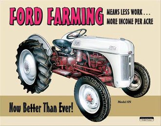 Tin Sign - Ford Farming 8N