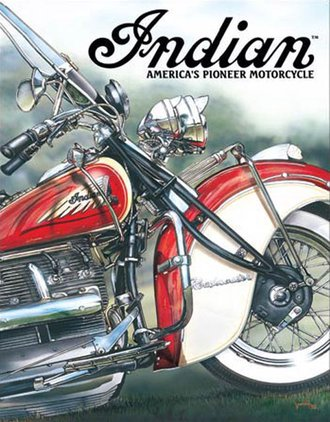 Tin Sign - Indian Motorcycles - America's Pioneer Motorcycle