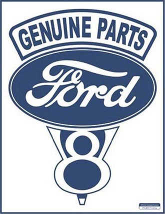 Tin Sign - Ford V-8