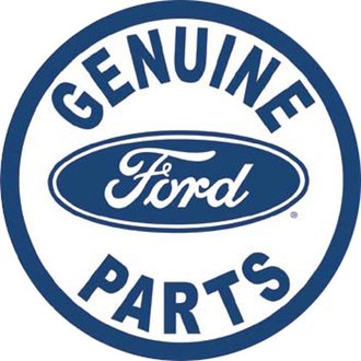Tin Sign - Ford Genuine Parts (Round)