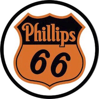Tin Sign - Phillips 66 Shield (Round)