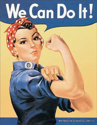 Tin Sign - Rosie The Rivetor - We Can Do It!