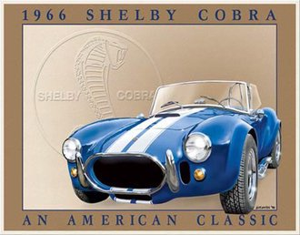 Tin Sign - Shelby Cobra