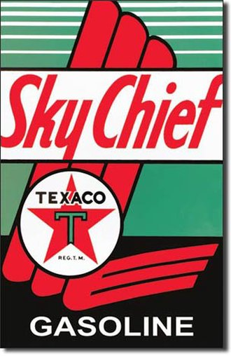 Tin Sign - Texaco - Sky Chief