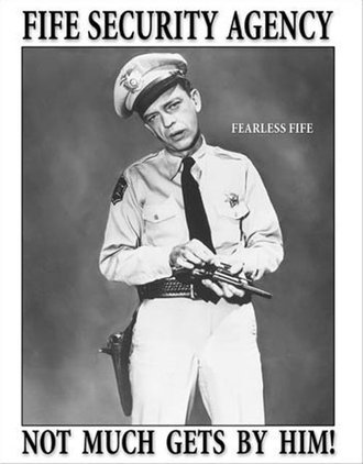 Tin Sign - Barney Fife - Security Agency
