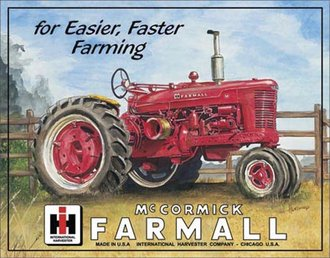 Tin Sign - McCormick Farmall M - For Easier, Faster Farming
