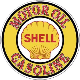 Tin Sign - Shell Motor Oil - Gasoline (Round)