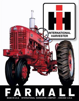 Tin Sign - International Harvester Farmall 400 Tractor