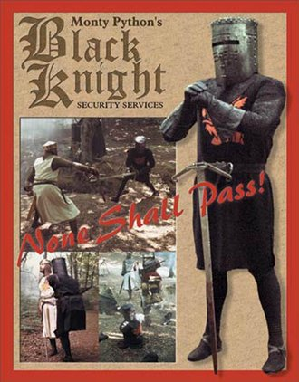 Tin Sign - Monty Python and the Holy Grail - Black Knight Security Services