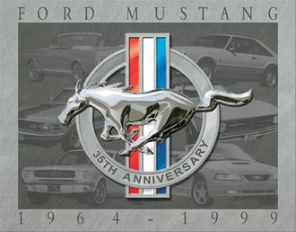 Tin Sign - Ford Mustang - 35th Anniversary