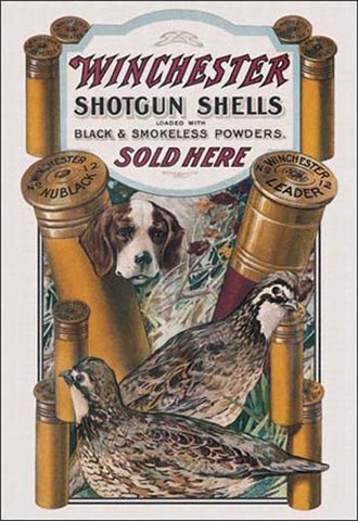 Tin Sign - Winchester - Dog & Quail