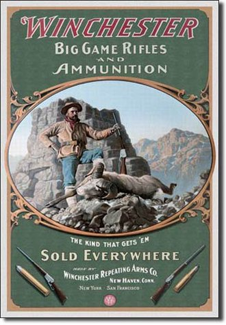 Tin Sign - Winchester - Hunter w/Ram