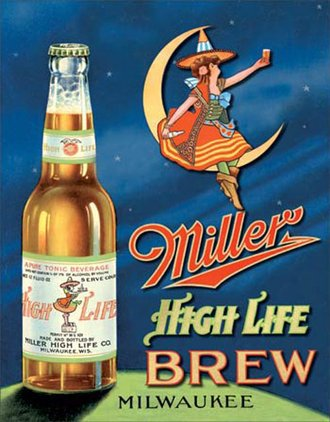 Tin Sign - Miller High Life Brew