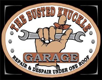 Tin Sign - Busted Knuckle Garage