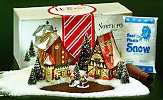 NP Start a Tradition Set Gift Wrap & Ribbons, Candy Cane & Peppermint (1996)