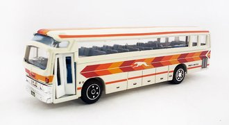 "Mitsubishi Fuso Bus ""Greyhound"" (White/Orange) *** Bad Casting Around Windshield ***"