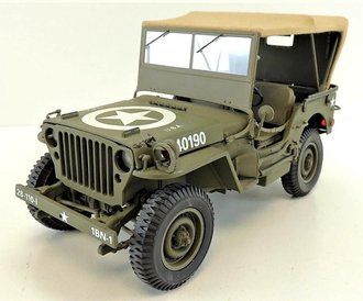 "1:16 World War II 1942 Willys Jeep (Canvas Top) ""US Army"" *** No Certificate ***"