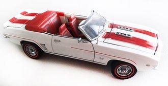 1969 Chevrolet Camaro (White w/Red Stripes)