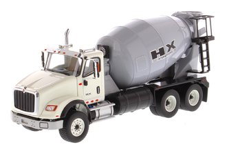 1:50 International HX615 Concrete Mixer (White Cab/Light Grey Mixer Drum)