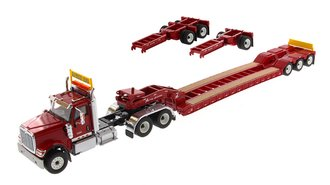 1:50 International HX520 Tandem Tractor w/XL 120 Trailer (Red) (w/Both Rear Boosters)