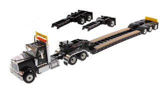 International HX520 Tandem Tractor w/XL 120 Trailer (Black) (w/Both Rear Boosters)