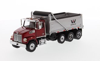 1:50 Western Star 4700 SF Dump Truck (Red/Silver)