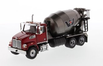 1:50 Western Star 4700 Concrete Mixer (Red/Dark Gray)