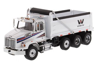 1:50 Western Star 4700 SF Dump Truck (White)