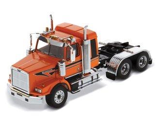 1:50 Western Star 4900 SB Sleeper Tandem Tractor (Metallic-Orange Cab w/Black Stripes)