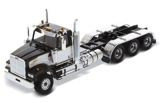 1:50 Western Star 4900 SF Day Cab Tridem Tractor (Black Cab w/White Decoration)